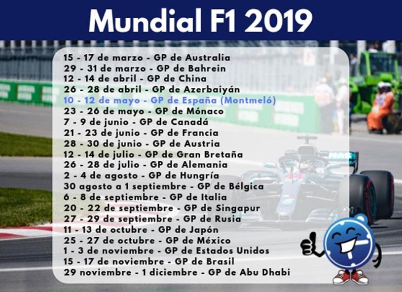 Calendario De Formula 1 2019.Mundial Motogp 2019 Seguropordias